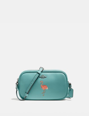Coach Crossbody Pouch With Flamingo Motif