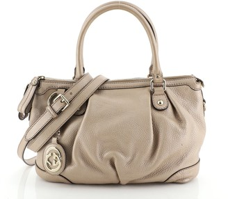 Gucci Sukey Top Handle Satchel Leather Medium