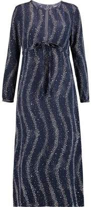Vanessa Seward Printed Silk Crepe De Chine Midi Dress