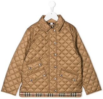 BURBERRY KIDS Diamond Quilted Jacket