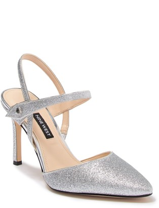 Nine West Emme Glitter Pointed Toe Pump