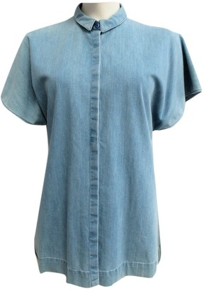 Vionnet Blue Cotton Top for Women