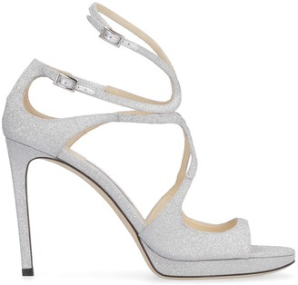 Jimmy Choo Lance Glittered Ankle-strap Sandals