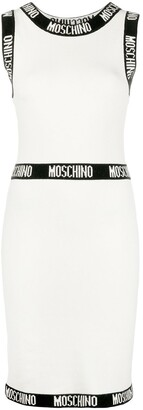 Moschino Contrast-Trim Knitted Dress
