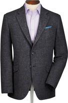 Charles Tyrwhitt Grey classic fit windowpane British tweed jacket