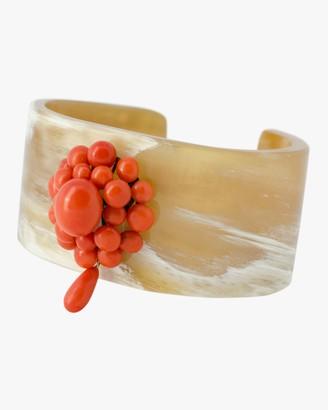 Haute Victoire Coral Horn Cuff Bracelet