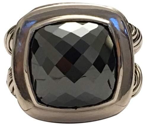 David Yurman 925 Sterling Silver & Hematine Cocktail Ring Size 6