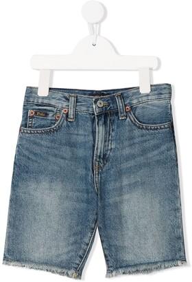 Ralph Lauren Kids Skinny Denim Shorts