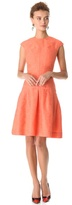 Lela Rose Drop Waist Jacquard Dress