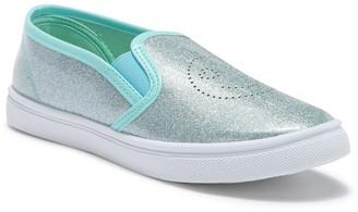 OLIVIA MILLER Perforated Glitter Slip-On Sneaker (Toddler, Little Kid, & Big Kid)