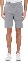Theory MEN'S MICRO-CHECKED SHORTS-LIGHT GREY SIZE 34