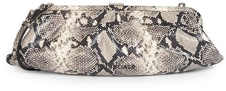 Balenciaga Extra-Large Cloud Python-Embossed Leather Clutch