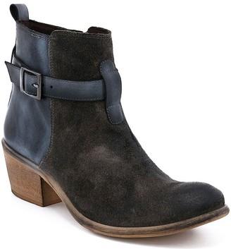 ROAN Leather Side Zip Block Heel Boots - Uma
