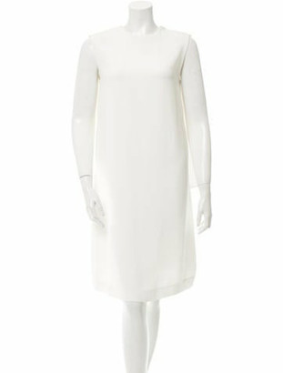 Derek Lam Draped Sleeveless Dress w/ Tags White
