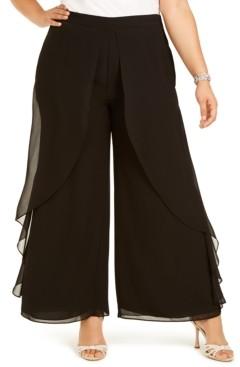 Adrianna Papell Plus Size Chiffon Dress Pants