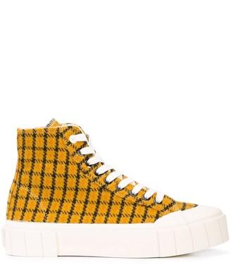 Good News Check Hi-Top Sneakers