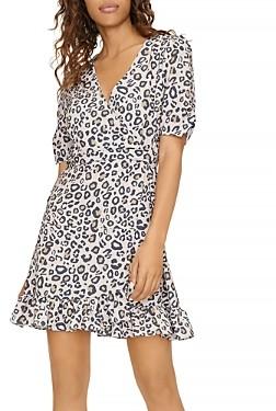 Sanctuary Animal Print Wrap Mini Dress