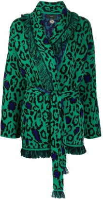 Alanui Glam Jaguar embroidered cardigan