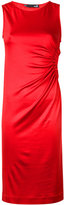 Love Moschino gathered detail dress - women - Viscose/Spandex/Elastane - 40
