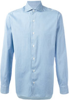 Barba pleated cuff shirt