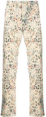 Martine Rose Leopard Print Jeans