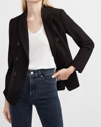 Express Double Breasted Knit Blazer