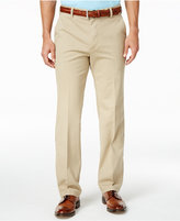 Izod Men's Flat-Front Straight-Fit Cotton Pants