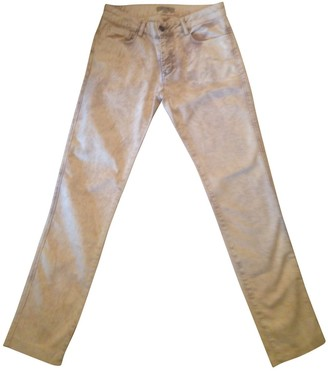 Bel Air \N Yellow Cotton Trousers for Women
