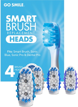 Go Smile Set of 4 Replacement Brush Heads