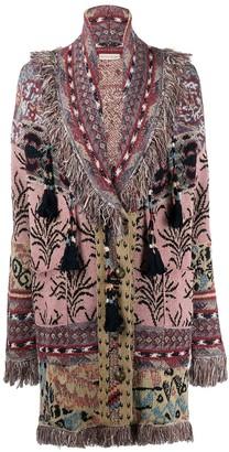 Etro Jacquard Inlaid Knitted Coat