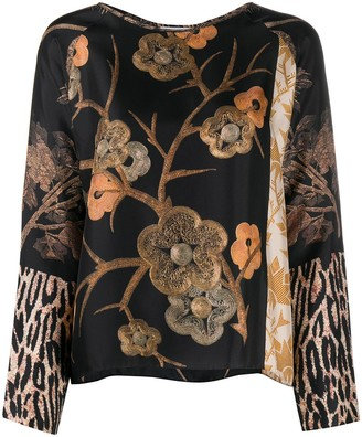 Pierre Louis Mascia Floral Embroidered Top