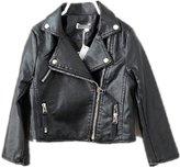 LJYH Little Girls Faux Leather Biker Trucker Motorcycle Jacket- Love Coat