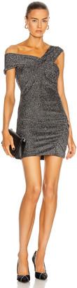 IRO Club Dress in Black & Silver   FWRD