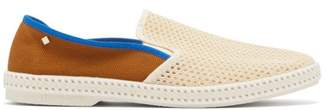 Rivieras Tour Du Monde Woven Loafers - Mens - White Multi