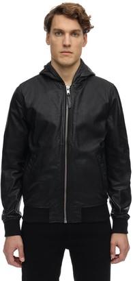 Schott Washed Leather Jacket W/ Hood