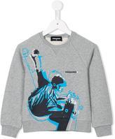 DSQUARED2 skater print sweatshirt - kids - Cotton - 4 yrs