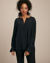Derek Lam 10 Crosby Long Sleeve Button Down with Bell Sleeves
