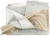 No.21 knotted glitter clutch