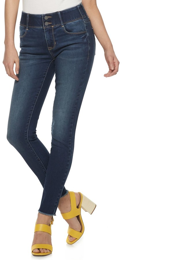 Women's Mid-Rise Tummy Control Skinny Jeans