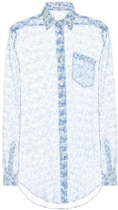 Acne Studios Floral silk chiffon shirt