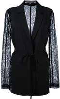 McQ by Alexander McQueen lace sleeve blazer - women - Polyamide/Polyester - 42
