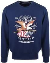 Ralph Lauren Crew Neck USA Sweatshirt Navy