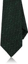 Kiton Men's Houndstooth Wool-Silk Necktie-GREEN