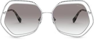 Miu Miu La Mondaine oversized-frame sunglasses