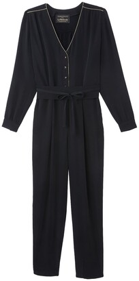 Vanessa Seward X La Redoute Collections Tie-Waist Jumpsuit with Long Sleeves