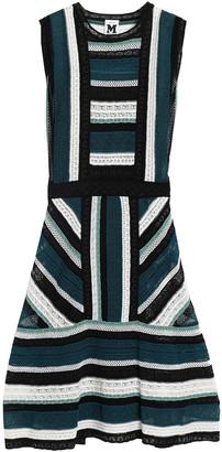 M Missoni Flared Crochet-knit Mini Dress