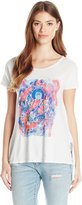 Lucky Brand Women's Multi Color Buddah T-Shirt