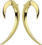 Shaun Leane Tusk yellow gold vermeil and diamond earrings