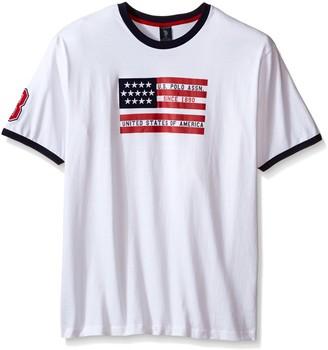 U.S. Polo Assn. Men's Big-Tall Flag Graphic Crew Neck T-Shirt