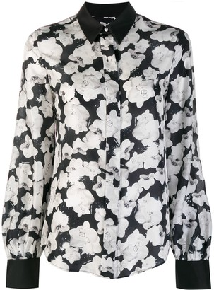 Karl Lagerfeld Paris Orchid Print Shirt